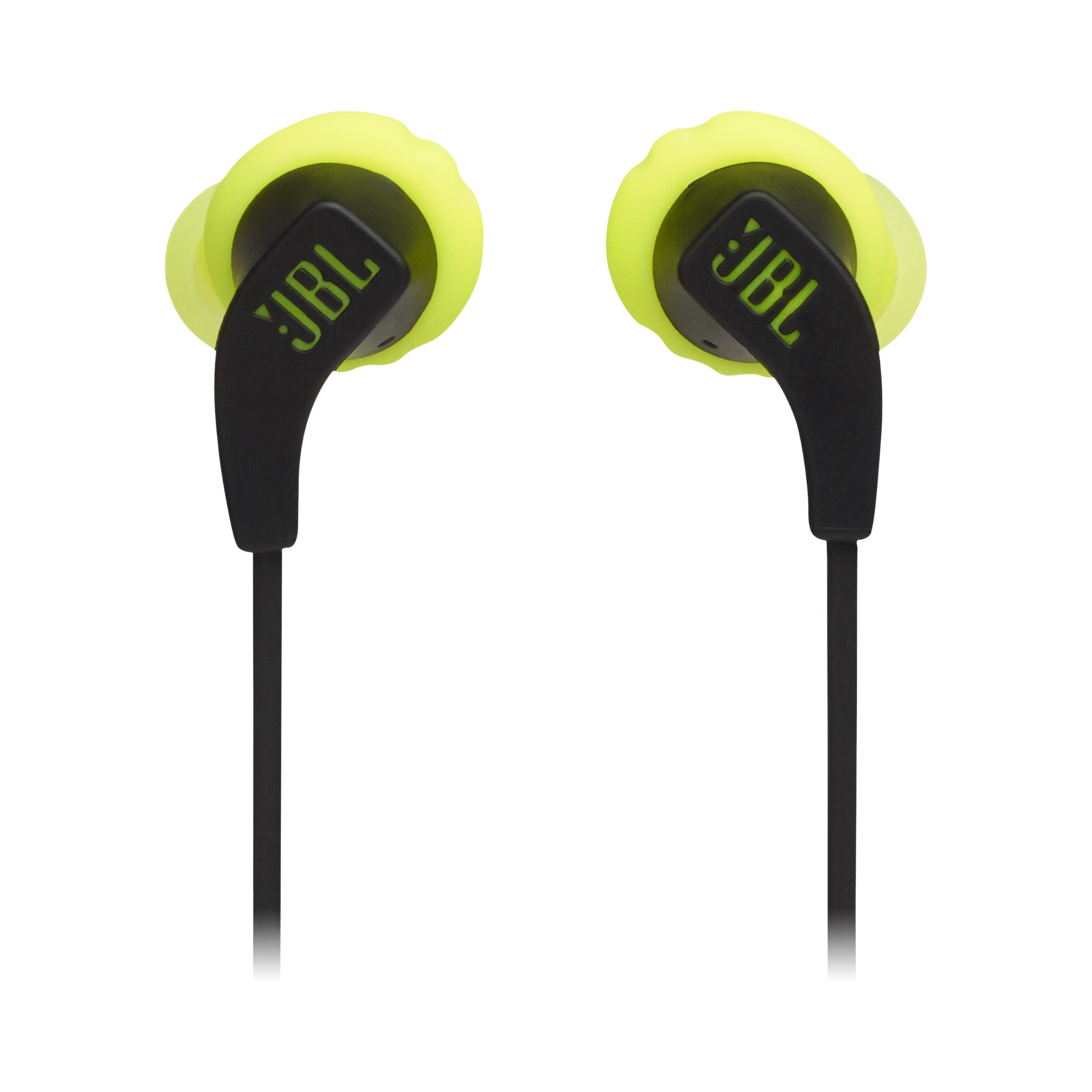 JBL Endurance RUNBT - Green - Sweatproof Wireless In-Ear Sport Headphones - Front
