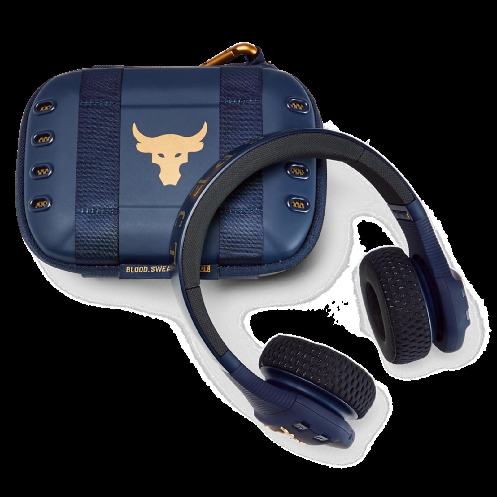 UA Sport Wireless Train Project Rock – Engineered by JBL - Blue - On-ear sport Headphones - Detailshot 3