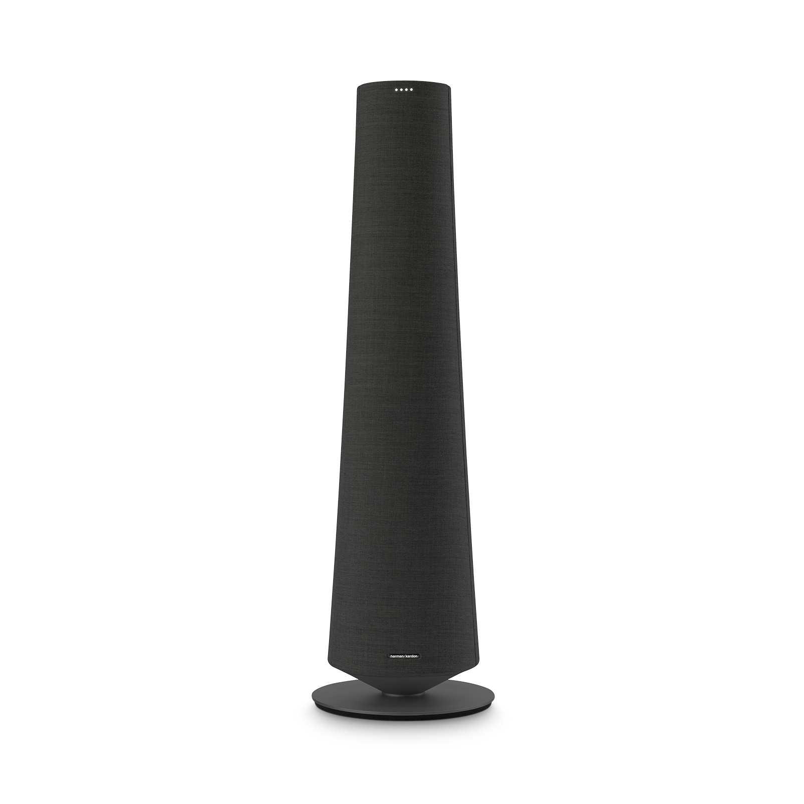 Harman Kardon Citation Tower - Black - Smart Premium Floorstanding Speaker that delivers an impactful performance - Front