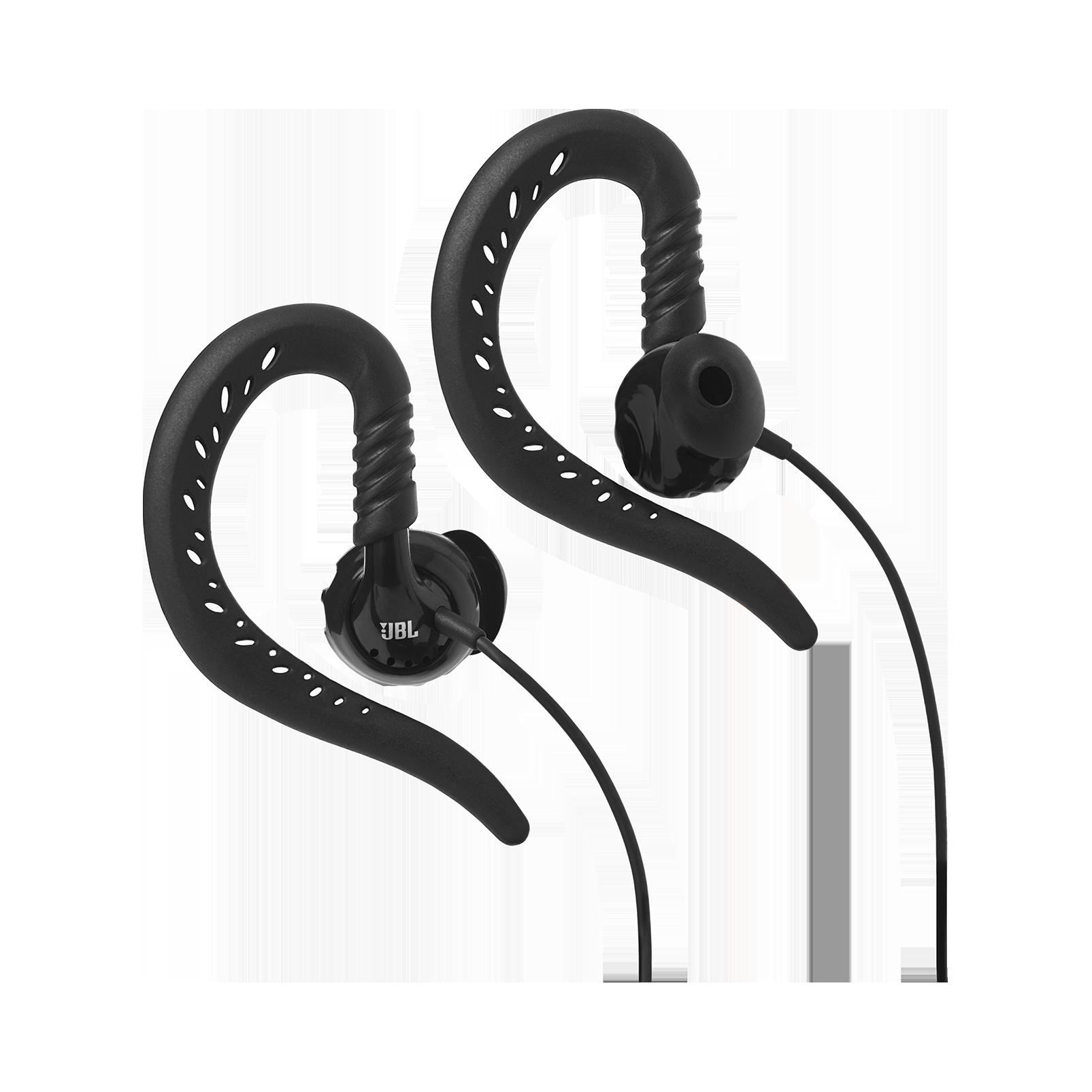 JBL Focus 100 - Black - Behind-the-ear, sport headphones with Twistlock™ Technology - Hero