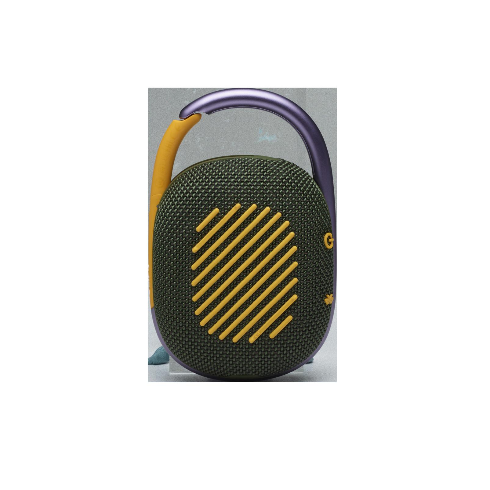 JBL CLIP 4 - Green - Ultra-portable Waterproof Speaker - Back