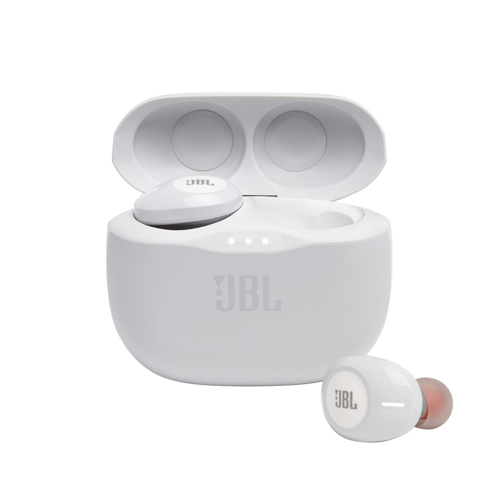 JBL Tune 125TWS - White - True wireless in-ear headphones - Hero