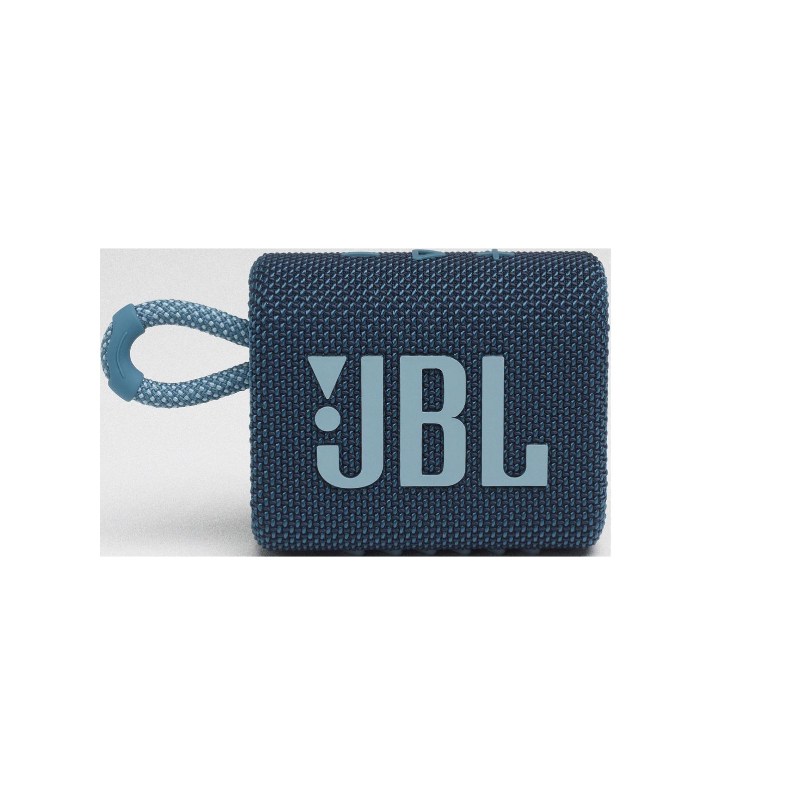 JBL GO 3 - Blue - Portable Waterproof Speaker - Front