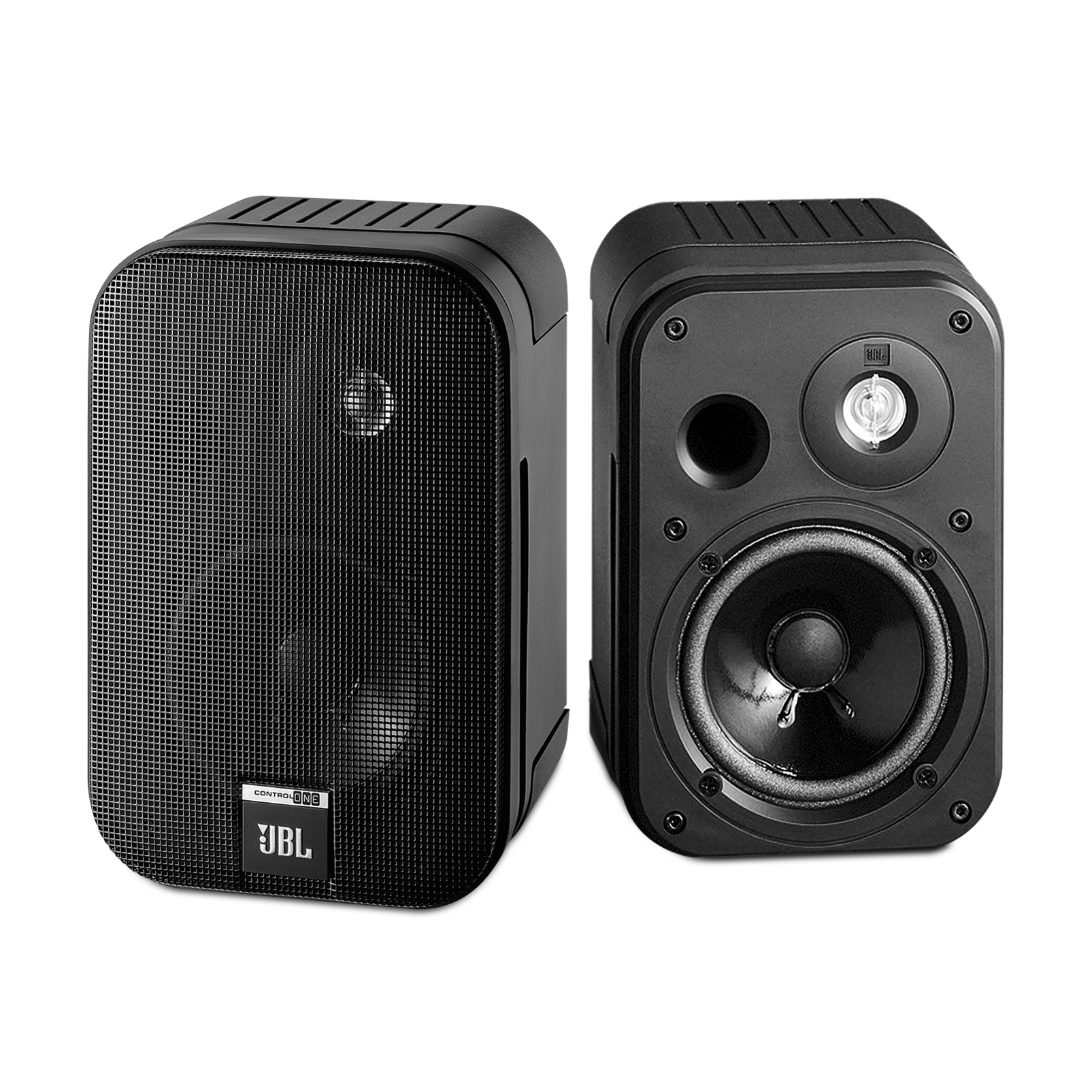 "Control One - Black - 2-Way, 100mm (4"") Bookshelf Speaker - Hero"