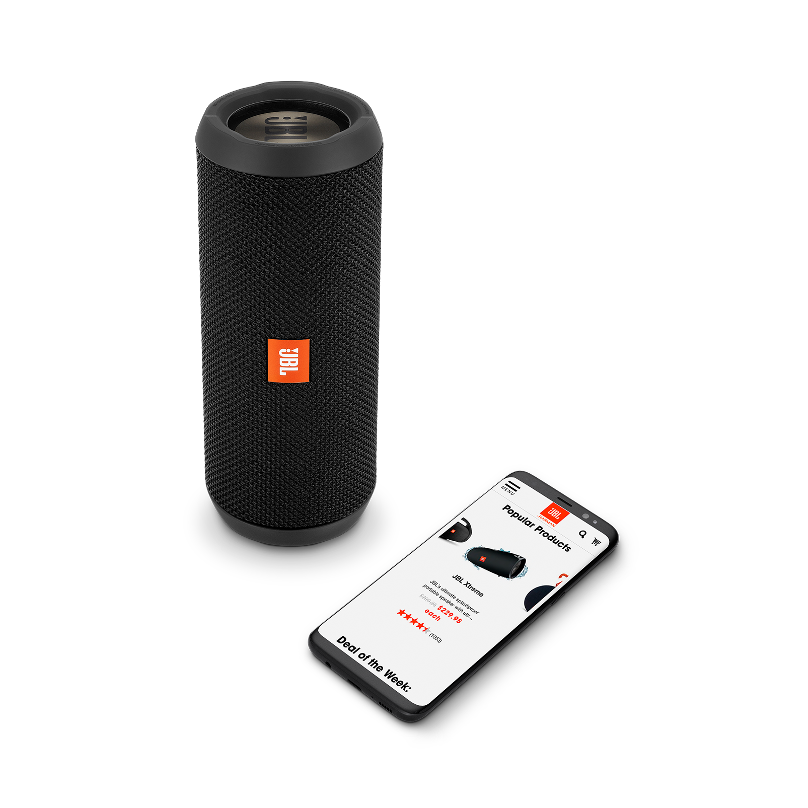 JBL Flip 3 Stealth Edition - Black - Portable Bluetooth® speaker - Detailshot 2