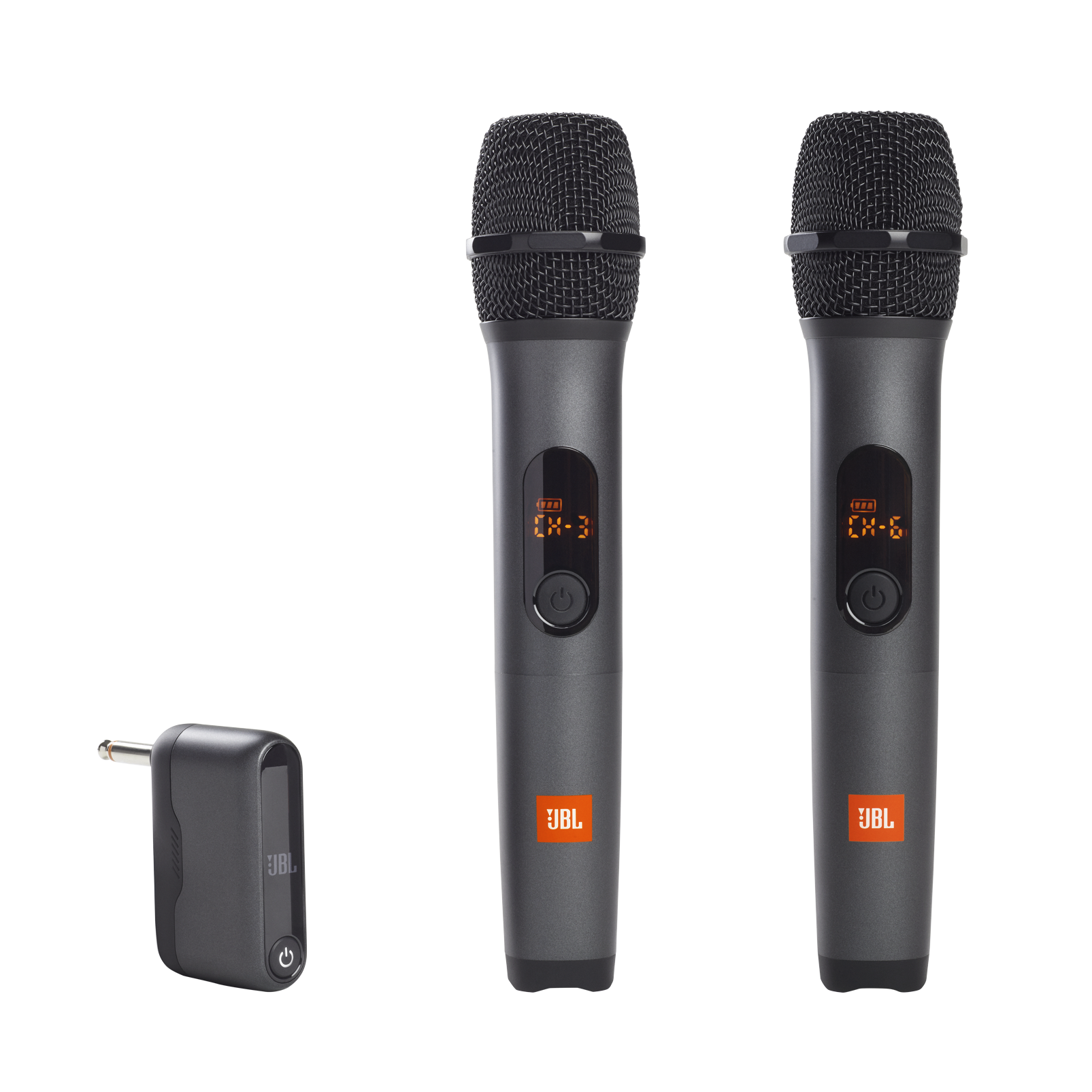 JBL Wireless Microphone Set - Black - Wireless two microphone system - Hero