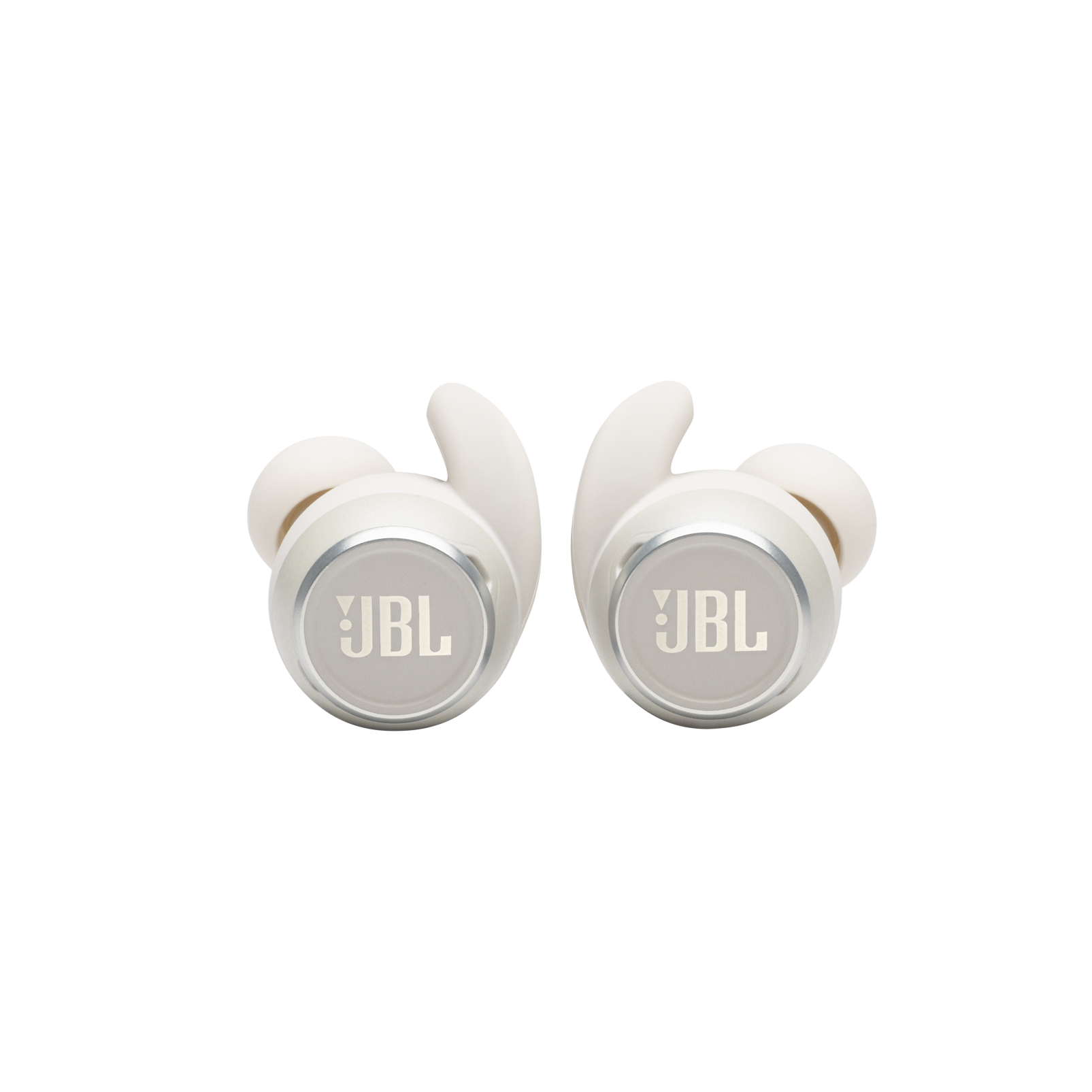 JBL Reflect Mini NC - White - Waterproof True Wireless In-Ear NC Sport Headphones - Detailshot 6