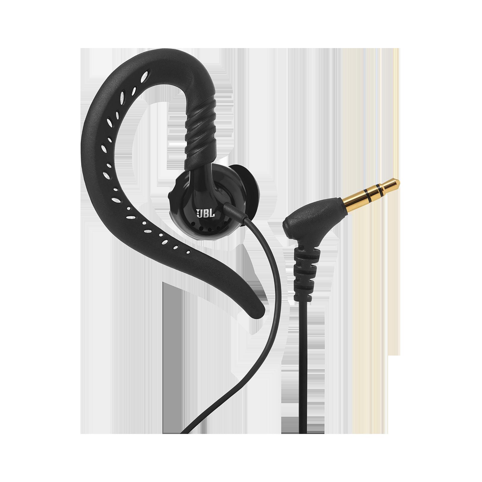 JBL Focus 100 - Black - Behind-the-ear, sport headphones with Twistlock™ Technology - Detailshot 1