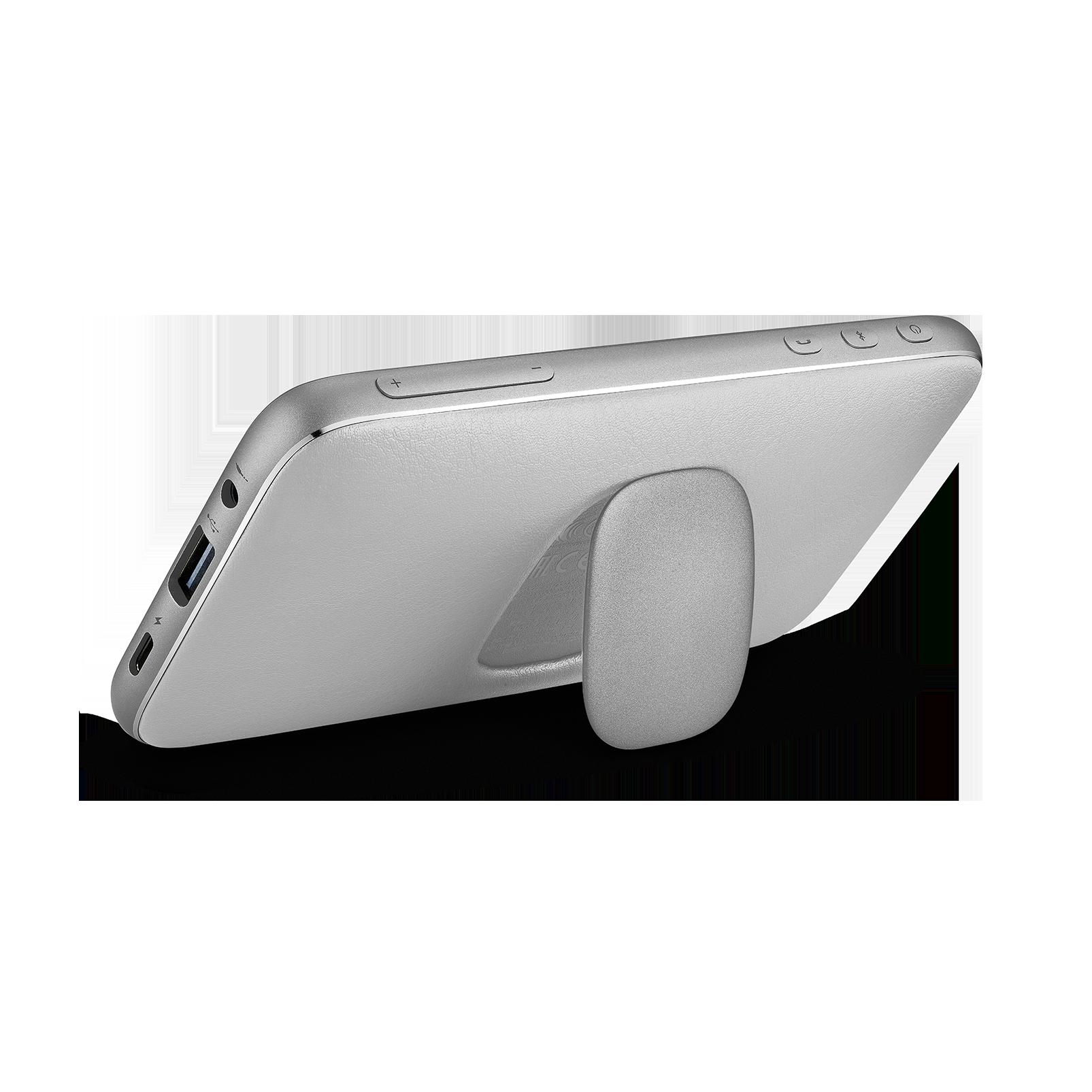 Harman Kardon Esquire Mini 2 - Silver - Ultra-slim and portable premium Bluetooth Speaker - Back