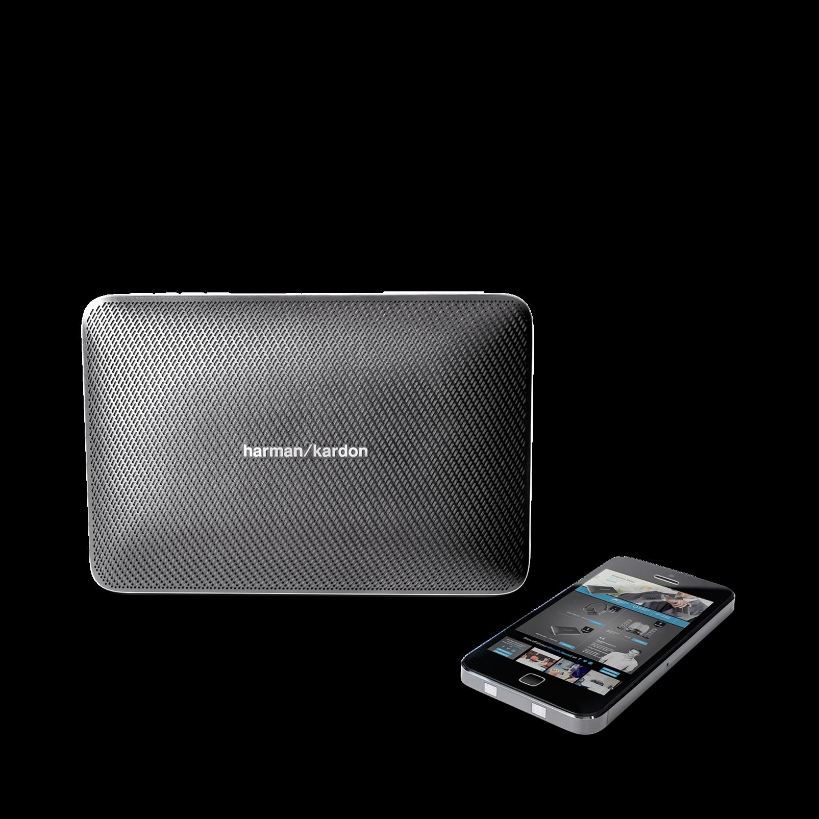 Esquire 2 - Grey - Premium portable Bluetooth speaker with quad microphone conferencing system - Detailshot 5