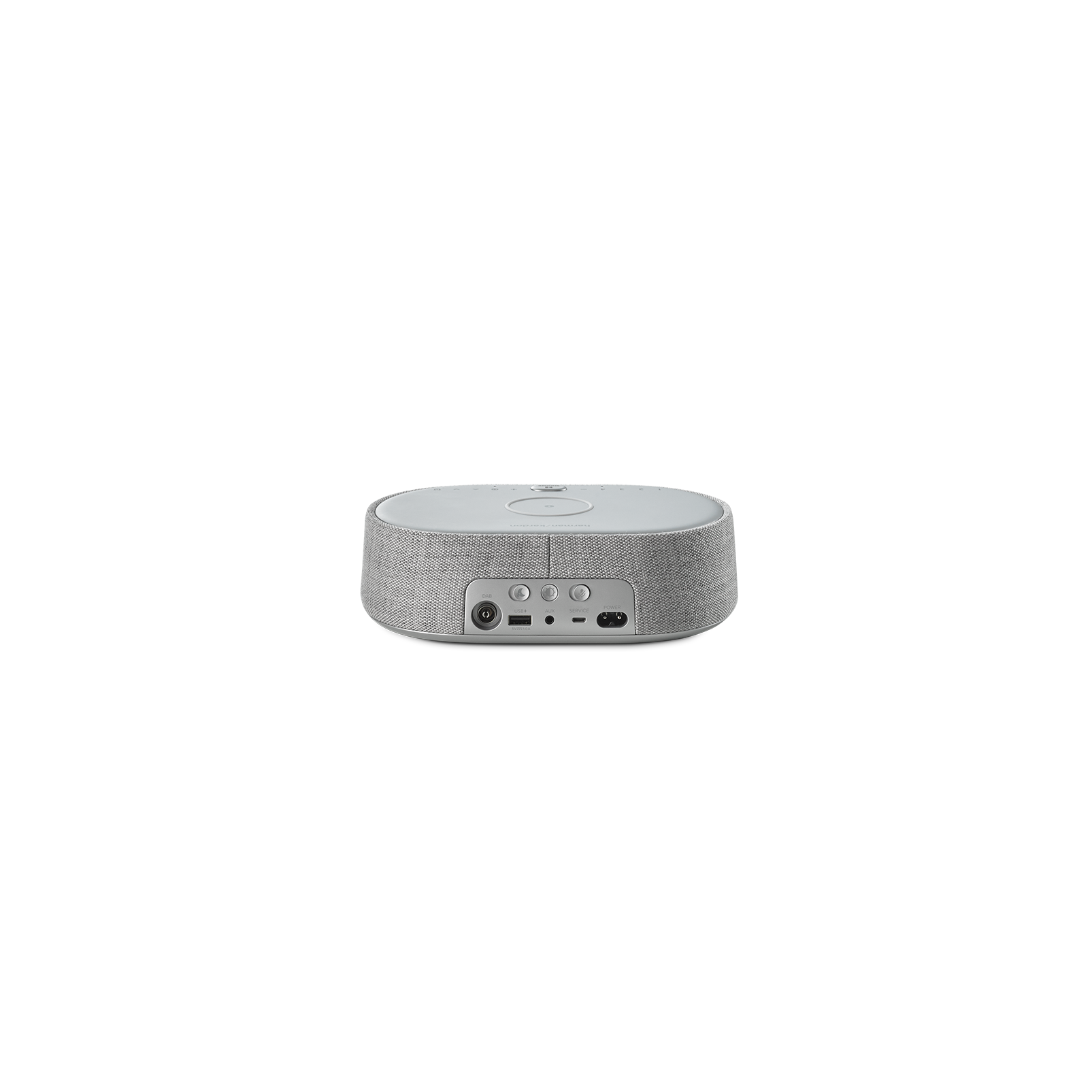 Harman Kardon Citation Oasis DAB - Grey - Voice-controlled speaker with DAB/DAB+ radio and wireless phone charging - Back