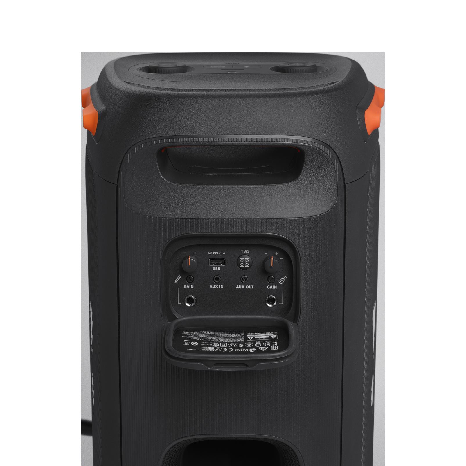 JBL Partybox 110 - Black - Portable party speaker with 160W powerful sound, built-in lights and splashproof design. - Detailshot 4