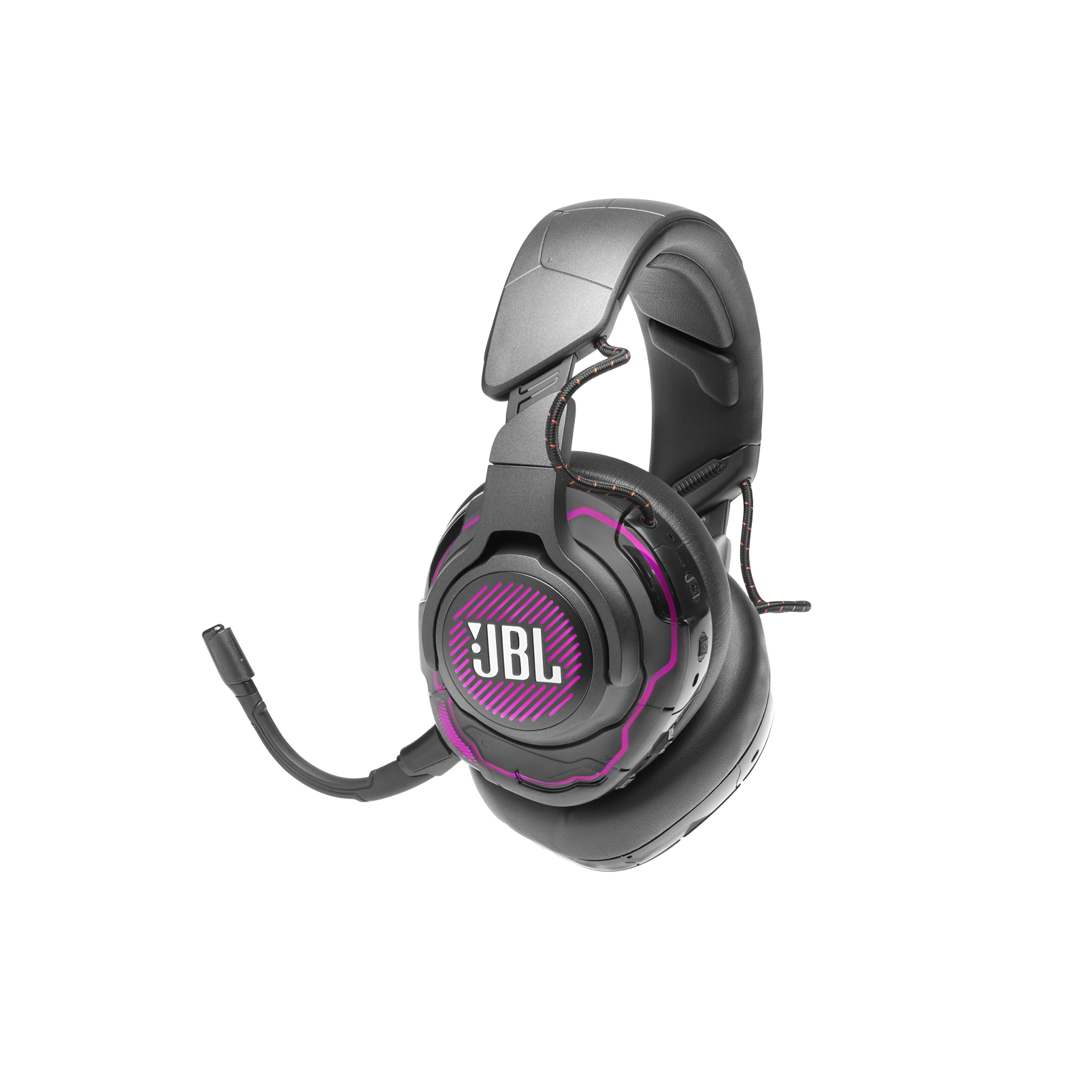 JBL Quantum ONE - Black - USB wired PC over-ear professional gaming headset with head-tracking enhanced JBL QuantumSPHERE 360 - Detailshot 3