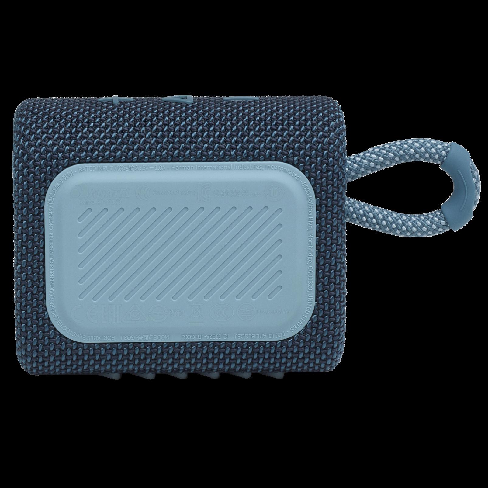 JBL Go 3 - Blue - Portable Waterproof Speaker - Back