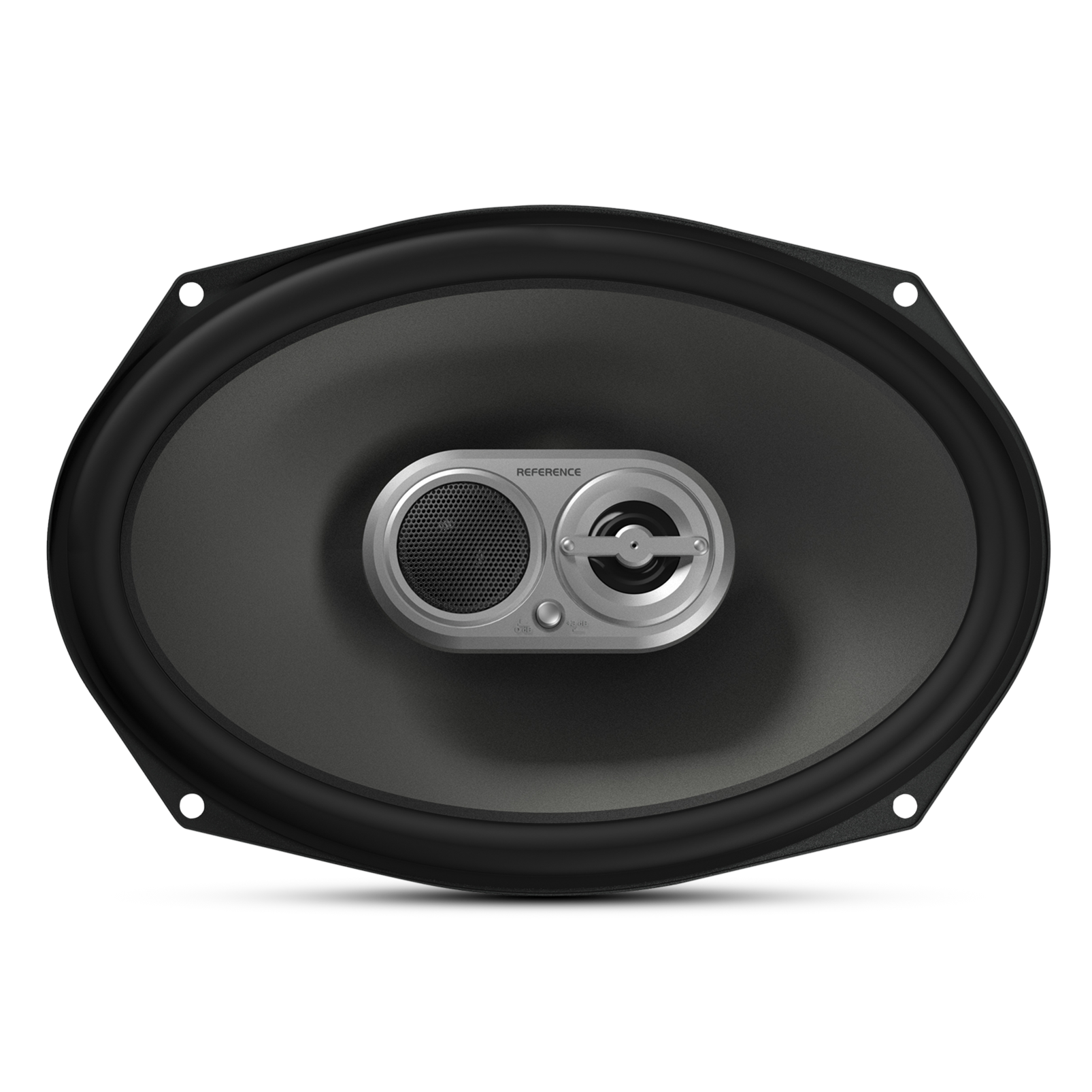 "Reference 9603ix - Black - A 6"" x 9"", three-way, high-fidelity speaker with true 4-ohm technology - Front"