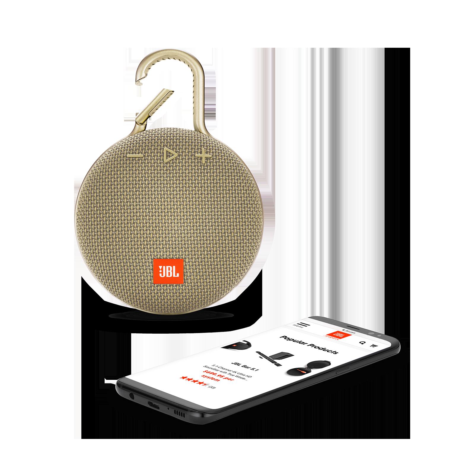 JBL CLIP 3 - Desert Sand - Portable Bluetooth® speaker - Detailshot 1