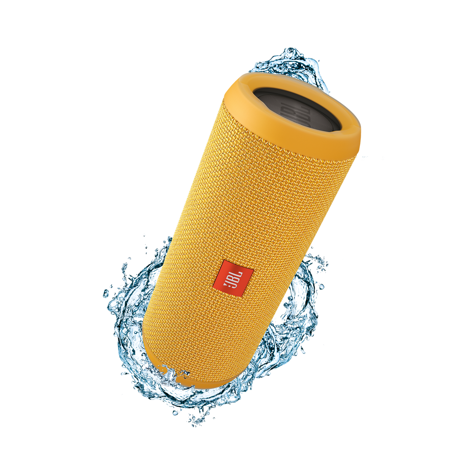 JBL Flip 3 - Yellow - Splashproof portable Bluetooth speaker with powerful sound and speakerphone technology - Hero