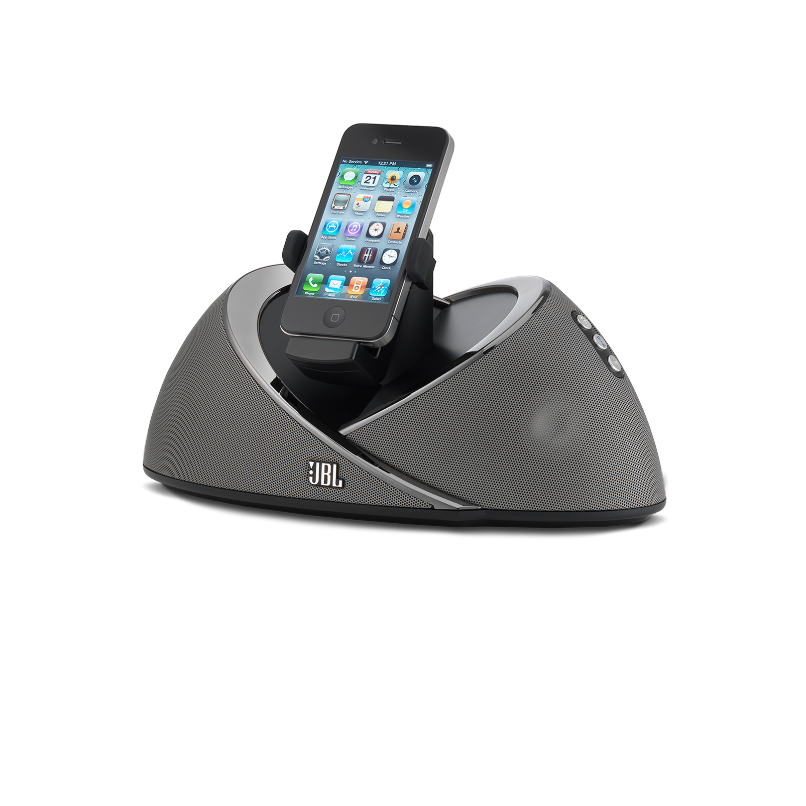 JBL OnBeat Air - Black-Z - High-performance AirPlay wireless loudspeaker docking station for iOS devices - Hero