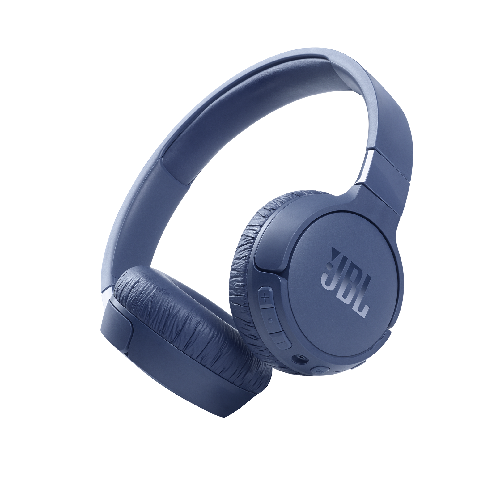 JBL Tune 660NC - Blue - Wireless, on-ear, active noise-cancelling headphones. - Hero
